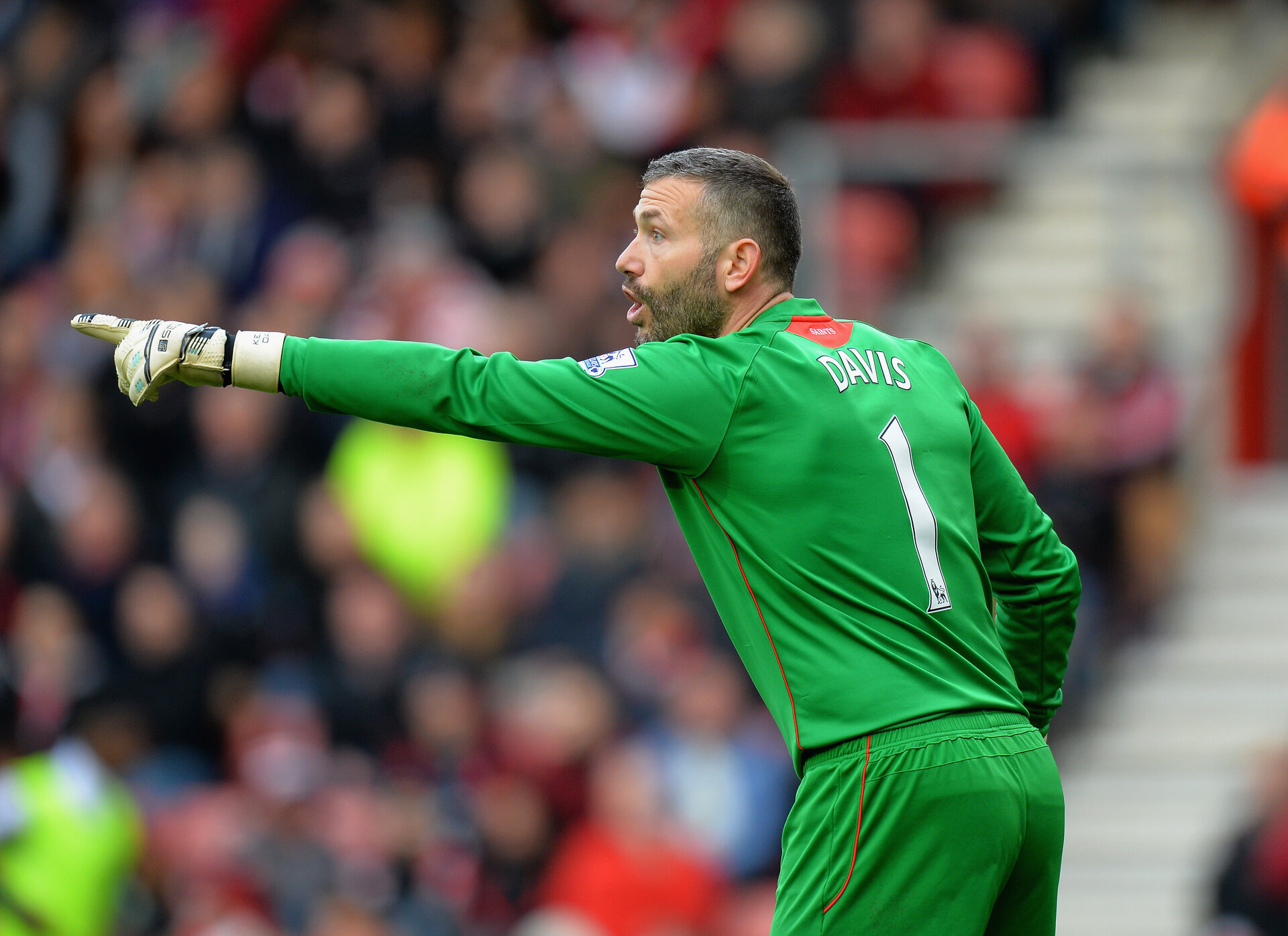 SOUTHAMPTON, ENGLAND - MARCH 21: Kelvin Davis of Southampton during the Barclays Premier League match between Southampton and Burnley at St Mary's Stadium on March 21, 2015 in Southampton, England.  (Photo by Tony Marshall/Getty Images)