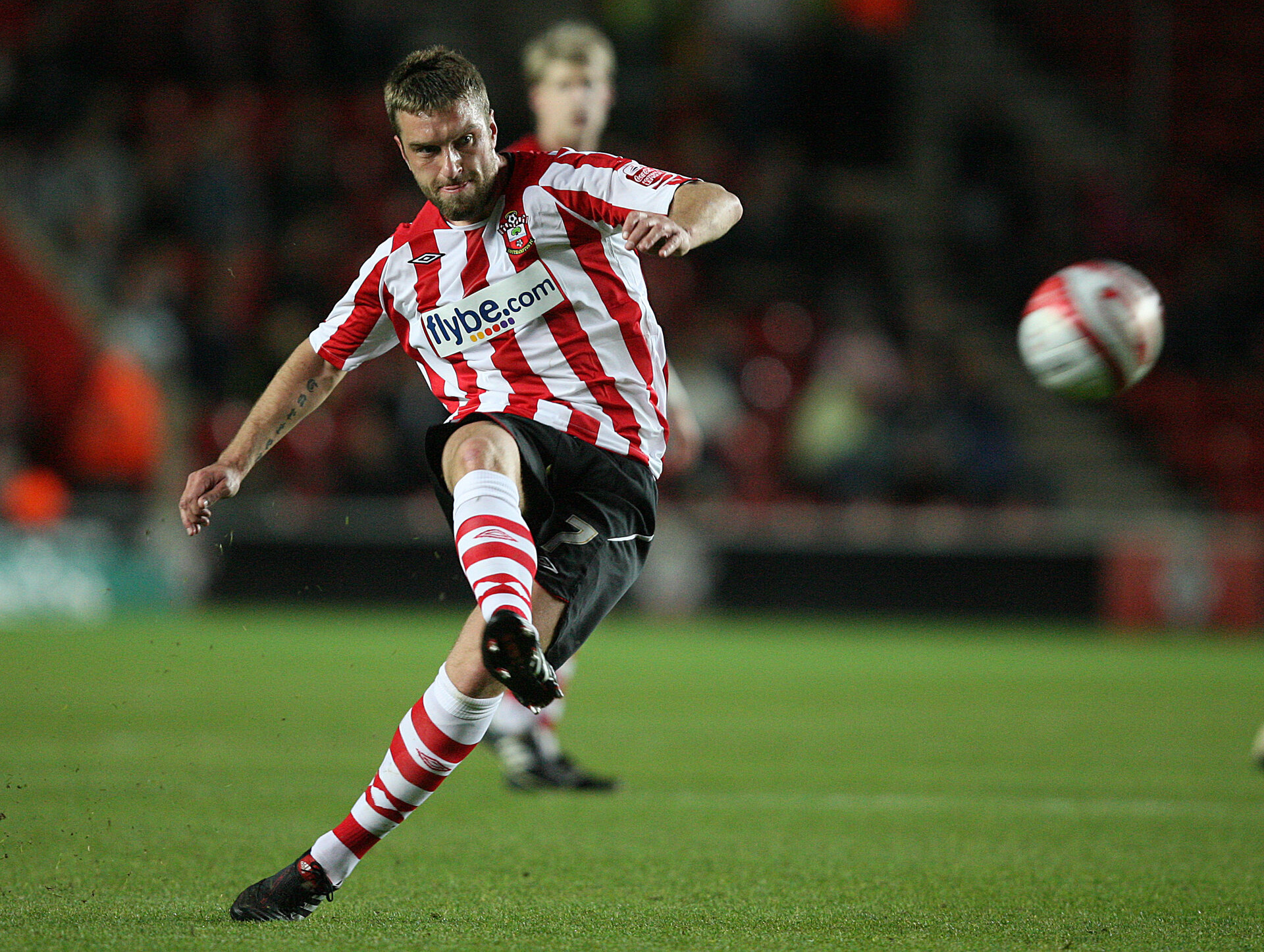 SOUTHAMPTON, ENGLAND - APRIL 20:   Rickie Lambert of Southampton in action during the Coca-Cola League One match between Southampton and Oldham Athletic at St. Mary's Stadium on April 20, 2010 in Southampton, England.  (Photo by Jan Kruger/Getty Images)