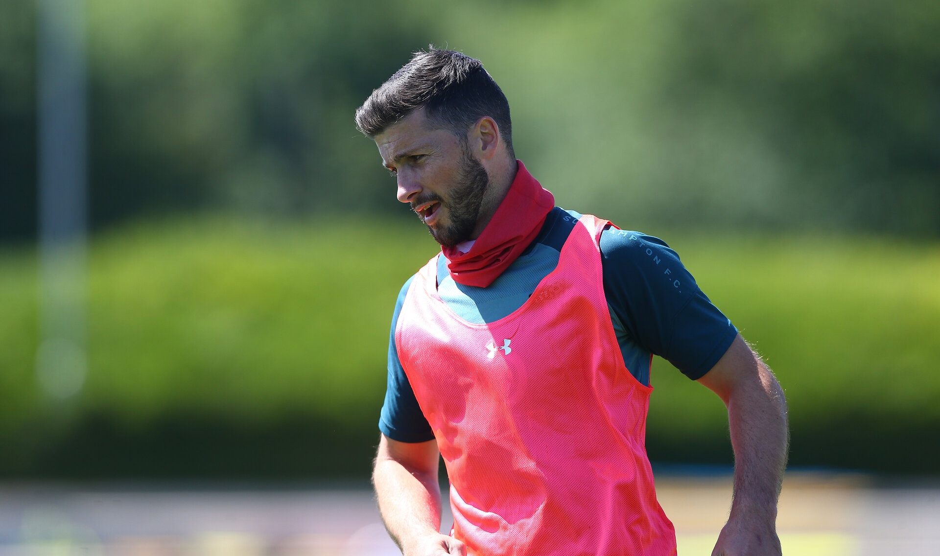 SOUTHAMPTON, ENGLAND - MAY 29: Shane Long during a Southampton FC training session, at the Staplewood Campus on May 29, 2020 in Southampton, England. (Photo by Matt Watson/Southampton FC via Getty Images)