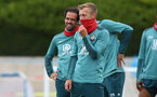 SOUTHAMPTON, ENGLAND - JUNE 05: Danny Ings(L) and James Ward-Prowse during a Southampton FC training session at the Staplewood Campus on June 05, 2020 in Southampton, England. (Photo by Matt Watson/Southampton FC via Getty Images)