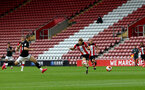 SOUTHAMPTON, ENGLAND - JUNE 12: Stuart Armstrong first goal during a friendly match between Southampton FC and Bristol City, ahead of the Premier League re-start, at St Mary's Stadium on June 12, 2020 in Southampton, England. (Photo by Matt Watson/Southampton FC via Getty Images)