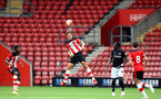 SOUTHAMPTON, ENGLAND - JUNE 12: Jannik Vestergaard during a friendly match between Southampton FC and Bristol City, ahead of the Premier League re-start, at St Mary's Stadium on June 12, 2020 in Southampton, England. (Photo by Matt Watson/Southampton FC via Getty Images)