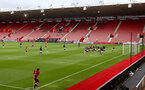SOUTHAMPTON, ENGLAND - JUNE 12: General View during a friendly match between Southampton FC and Bristol City, ahead of the Premier League re-start, at St Mary's Stadium on June 12, 2020 in Southampton, England. (Photo by Matt Watson/Southampton FC via Getty Images)