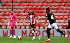 SOUTHAMPTON, ENGLAND - JUNE 12: Jack Stephens during a friendly match between Southampton FC and Bristol City, ahead of the Premier League re-start, at St Mary's Stadium on June 12, 2020 in Southampton, England. (Photo by Matt Watson/Southampton FC via Getty Images)