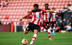 SOUTHAMPTON, ENGLAND - JUNE 12: Ché Adams during a friendly match between Southampton FC and Bristol City, ahead of the Premier League re-start, at St Mary's Stadium on June 12, 2020 in Southampton, England. (Photo by Matt Watson/Southampton FC via Getty Images)