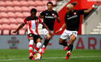 SOUTHAMPTON, ENGLAND - JUNE 12: Nathan Tella during a friendly match between Southampton FC and Bristol City, ahead of the Premier League re-start, at St Mary's Stadium on June 12, 2020 in Southampton, England. (Photo by Matt Watson/Southampton FC via Getty Images)