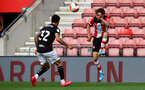 SOUTHAMPTON, ENGLAND - JUNE 12: Jake Vokins during a friendly match between Southampton FC and Bristol City, ahead of the Premier League re-start, at St Mary's Stadium on June 12, 2020 in Southampton, England. (Photo by Matt Watson/Southampton FC via Getty Images)