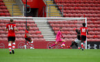 SOUTHAMPTON, ENGLAND - JUNE 12: Angus Gunn during a friendly match between Southampton FC and Bristol City, ahead of the Premier League re-start, at St Mary's Stadium on June 12, 2020 in Southampton, England. (Photo by Matt Watson/Southampton FC via Getty Images)