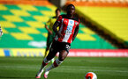 NORWICH, ENGLAND - JUNE 19: Michael Obafemi during the Premier League match between Norwich City and Southampton FC at Carrow Road on June 19, 2020 in Norwich, United Kingdom. (Photo by Matt Watson/Southampton FC via Getty Images)