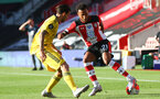 SOUTHAMPTON, ENGLAND - JUNE 25: Ryan Bertrand during the Premier League match between Southampton FC and Arsenal FC at St Mary's Stadium on March 21, 2020 in Southampton, United Kingdom. (Photo by Matt Watson/Southampton FC via Getty Images)