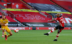 SOUTHAMPTON, ENGLAND - JUNE 25: Nathan Redmond during the Premier League match between Southampton FC and Arsenal FC at St Mary's Stadium on March 21, 2020 in Southampton, United Kingdom. (Photo by Matt Watson/Southampton FC via Getty Images)