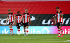 SOUTHAMPTON, ENGLAND - JUNE 25: Southampton players dejected during the Premier League match between Southampton FC and Arsenal FC at St Mary's Stadium on June 25, 2020 in Southampton, United Kingdom. (Photo by Matt Watson/Southampton FC via Getty Images)
