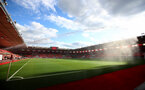 SOUTHAMPTON, ENGLAND - JULY 16: A general view ahead of the Premier League match between Southampton FC and Brighton & Hove Albion at St Mary's Stadium on July 16, 2020 in Southampton, United Kingdom. Football Stadiums around Europe remain empty due to the Coronavirus Pandemic as Government social distancing laws prohibit fans inside venues resulting in all fixtures being played behind closed doors. (Photo by Matt Watson/Southampton FC via Getty Images)