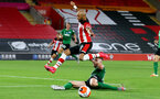 SOUTHAMPTON, ENGLAND - JULY 16: Nathan Redmond (L) of southampton and Adam Webster (R) of brighton during the Premier League match between Southampton FC and Brighton & Hove Albion at St Mary's Stadium on July 16, 2020 in Southampton, United Kingdom. Football Stadiums around Europe remain empty due to the Coronavirus Pandemic as Government social distancing laws prohibit fans inside venues resulting in all fixtures being played behind closed doors. (Photo by Matt Watson/Southampton FC via Getty Images)