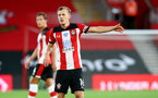 SOUTHAMPTON, ENGLAND - JULY 16: James Ward-Prowse of Southampton during the Premier League match between Southampton FC and Brighton & Hove Albion at St Mary's Stadium on July 16, 2020 in Southampton, United Kingdom. Football Stadiums around Europe remain empty due to the Coronavirus Pandemic as Government social distancing laws prohibit fans inside venues resulting in all fixtures being played behind closed doors. (Photo by Matt Watson/Southampton FC via Getty Images)