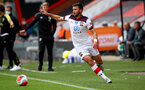 BOURNEMOUTH, ENGLAND - JULY 19: Shane Long of southampton during the Premier League match between AFC Bournemouth and Southampton FC at Vitality Stadium on July 19, 2020 in Bournemouth, United Kingdom. Football Stadiums around Europe remain empty due to the Coronavirus Pandemic as Government social distancing laws prohibit fans inside venues resulting in all fixtures being played behind closed doors. (Photo by Matt Watson/Southampton FC via Getty Images)