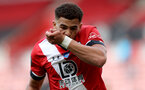 SOUTHAMPTON, ENGLAND - JULY 26: Ché Adams of Southampton goal celebration during the Premier League match between Southampton FC and Sheffield United at St Mary's Stadium on April 17, 2020 in Southampton, United Kingdom. (Photo by Chris Moorhouse/Southampton FC via Getty Images)