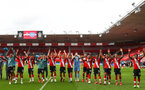 SOUTHAMPTON, ENGLAND - JULY 26: southampton players celebrating the end of 2019/2020 season after the Premier League match between Southampton FC and Sheffield United at St Mary's Stadium on April 17, 2020 in Southampton, United Kingdom. (Photo by Matt Watson/Southampton FC via Getty Images)