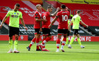 SOUTHAMPTON, ENGLAND - JULY 26: Danny Ings(centre) after scoring during the Premier League match between Southampton FC and Sheffield United at St Mary's Stadium on July 26, 2020 in Southampton, United Kingdom. (Photo by Matt Watson/Southampton FC via Getty Images)