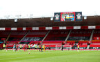 SOUTHAMPTON, ENGLAND - JULY 26: End of season video message during the Premier League match between Southampton FC and Sheffield United at St Mary's Stadium on July 26, 2020 in Southampton, United Kingdom. (Photo by Matt Watson/Southampton FC via Getty Images)
