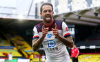 WATFORD, ENGLAND - JUNE 28: Danny Ings of Southampton celebrates during the Premier League match between Watford FC and Southampton FC at Vicarage Road on June 28, 2020 in Watford, United Kingdom. (Photo by Matt Watson/Southampton FC via Getty Images)