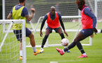SOUTHAMPTON, ENGLAND - AUGUST 25: Moussa Djenepo during a Southampton FC training session at the Staplewood Campus on August 25, 2020 in Southampton, England. (Photo by Matt Watson/Southampton FC via Getty Images)