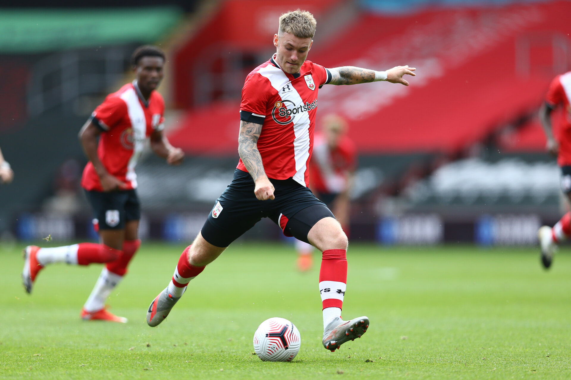 SOUTHAMPTON, ENGLAND - SEPTEMBER 1: during a pre-season friendly match between Southampton U23 and Coventry City at St Mary's Stadium on September 1, 2020 in Southampton, United Kingdom. (Photo by Isabelle Field/Southampton FC)