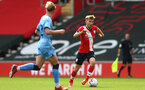 SOUTHAMPTON, ENGLAND - SEPTEMBER 1: Jake Vokins (R) of Southampton during a pre-season friendly match between Southampton U23 and Coventry City at St Mary's Stadium on September 1, 2020 in Southampton, United Kingdom. (Photo by Isabelle Field/Southampton FC)