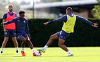 SOUTHAMPTON, ENGLAND - SEPTEMBER 02: Kyle Walker-Peters(L) and Yan Valery during a Southampton FC training session at the Staplewood Campus on September 02, 2020 in Southampton, England. (Photo by Matt Watson/Southampton FC via Getty Images)