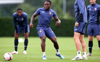 SOUTHAMPTON, ENGLAND - SEPTEMBER 03: Michael Obafemi during a Southampton FC training session at the Staplewood Campus on September 03, 2020 in Southampton, England. (Photo by Matt Watson/Southampton FC via Getty Images)