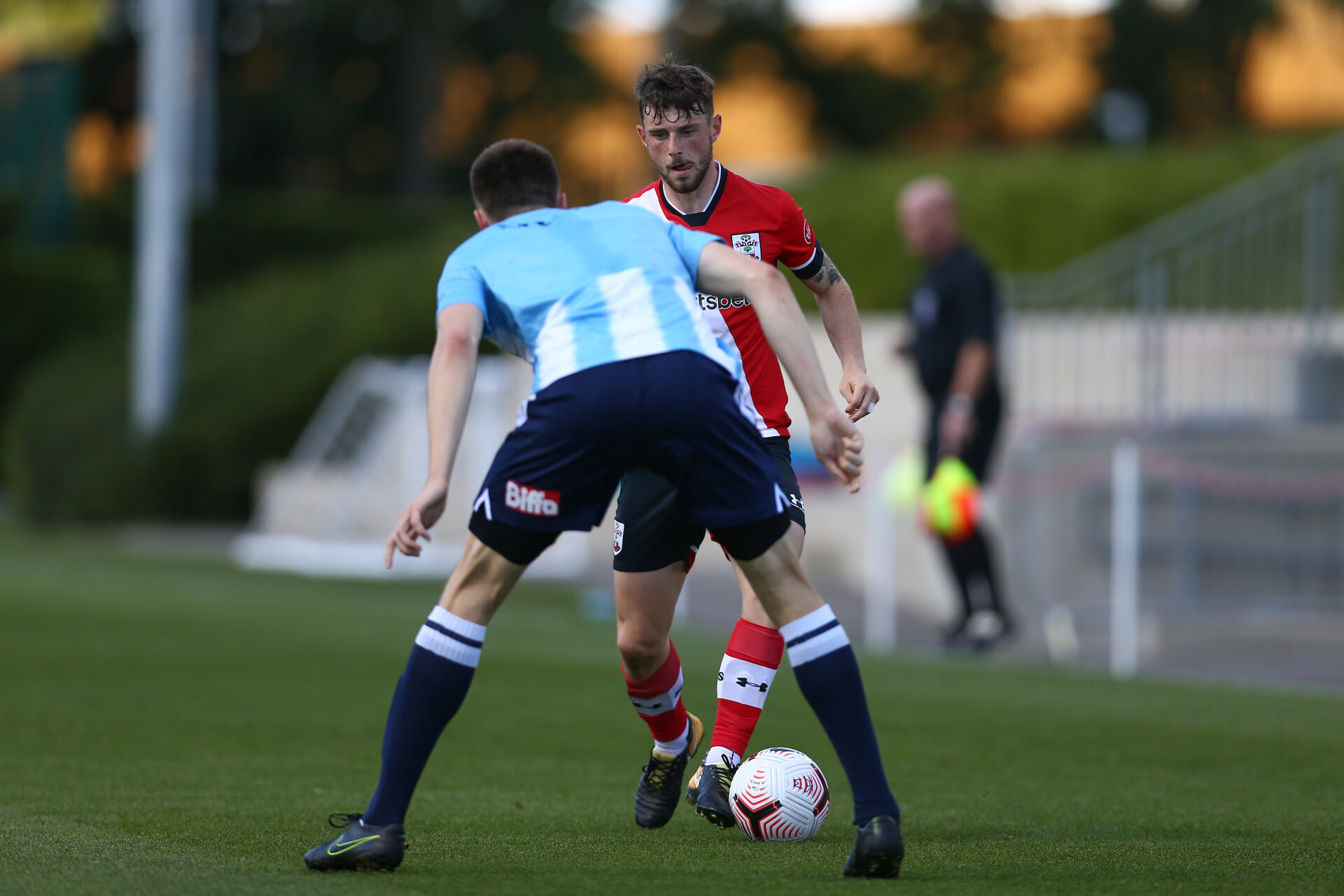 SOUTHAMPTON, ENGLAND - SEPTEMBER 05:  during a Southampton FC U23 pre season friendly against Working FC at Staplewood Campus on September 05, 2020 in Southampton, England. (Photo by Isabelle Field/Southampton FC)