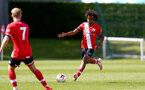 SOUTHAMPTON, ENGLAND - SEPTEMBER 05: Caleb Watts during a Southampton FC U23 pre season friendly against Working FC at Staplewood Campus on September 05, 2020 in Southampton, England. (Photo by Isabelle Field/Southampton FC)