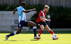 SOUTHAMPTON, ENGLAND - SEPTEMBER 05: Josh Sims during a Southampton FC U23 pre season friendly against Working FC at Staplewood Campus on September 05, 2020 in Southampton, England. (Photo by Isabelle Field/Southampton FC)