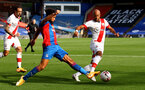 LONDON, ENGLAND - SEPTEMBER 12: Andros Townsend (L) of Crystal Palace and Nathan Redmond (R) of Southampton during the Premier League match between Crystal Palace and Southampton at Selhurst Park on September 12, 2020 in London, United Kingdom. (Photo by Matt Watson/Southampton FC via Getty Images)
