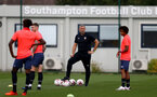 LONDON, ENGLAND - SEPTEMBER 15: Kevin Davis (center) during B Team training session Staplewood Training Ground on September 15, 2020 in Southampton, United Kingdom. (Photo by Isabelle Field/Southampton FC via Getty Images)