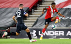 SOUTHAMPTON, ENGLAND - SEPTEMBER 16: Ryan Bertrand (R) of Southampton during the second round of the Carabao Cup match between Southampton FC and Brentford FC at St. Mary's Stadium on September 16, 2020 in Southampton, England. (Photo by Matt Watson/Southampton FC via Getty Images)