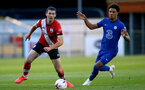 SOUTHAMPTON, ENGLAND - SEPTEMBER 18: Tom O'Connor (L) of Southampton during the Premier League 2 match between Southampton FC B Team and Chelsea FC at Snows Stadium on September 18, 2020 in Southampton, England. (Photo by Isabelle Field/Southampton FC via Getty Images)
