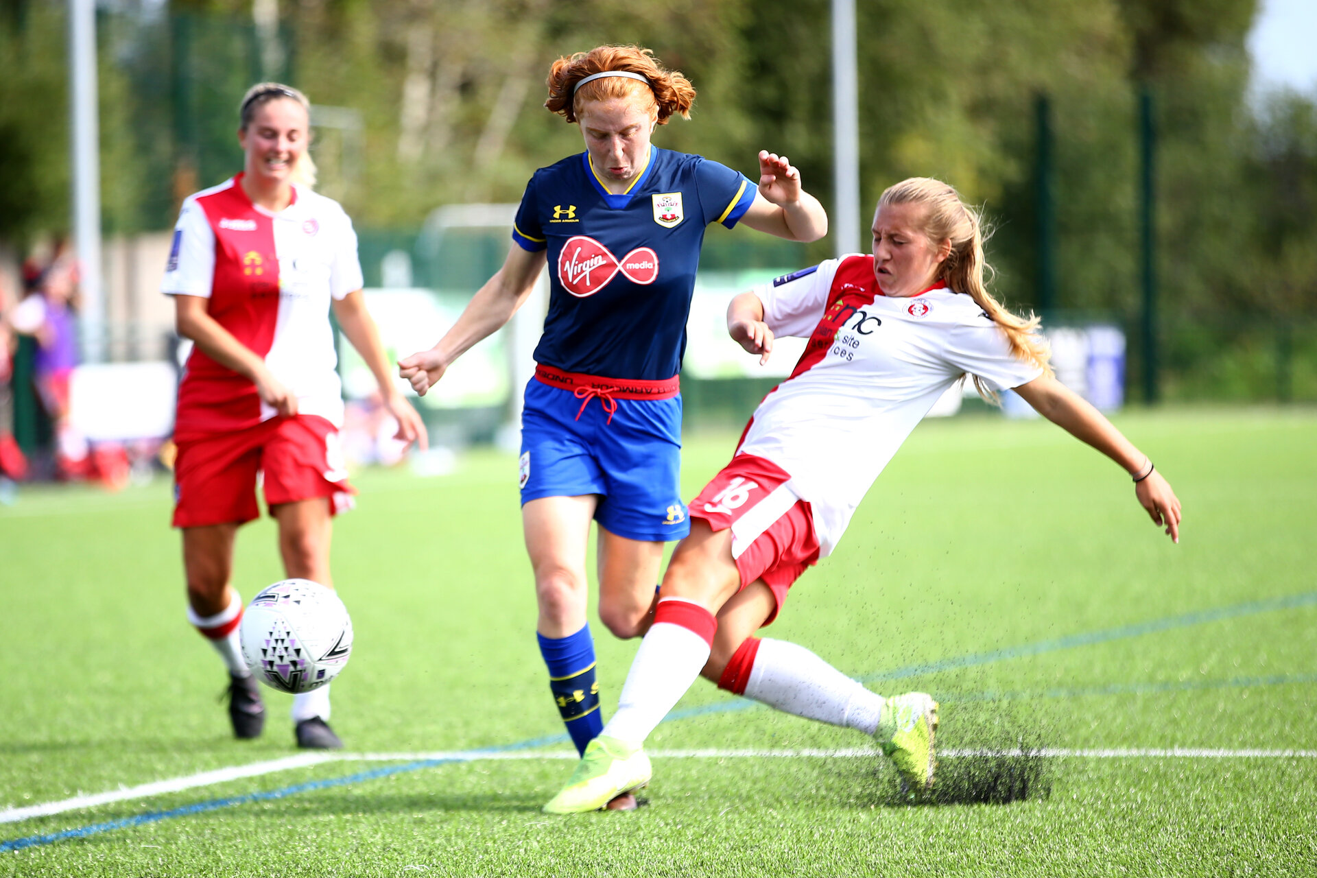 SOUTHAMPTON, ENGLAND - SEPTEMBER 20: during the FAWNL match between Southampton Women and Poole Town FC at Specsavers County Ground on September 20, 2020 in Poole, England. (Photo by Isabelle Field/Southampton FC via Getty Images)