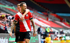SOUTHAMPTON, ENGLAND - SEPTEMBER 20: James Ward-Prowse(L) and Danny Ings of Southampton during the Premier League match between Southampton and Tottenham Hotspur at St Mary's Stadium on September 20, 2020 in Southampton, United Kingdom. (Photo by Matt Watson/Southampton FC via Getty Images)