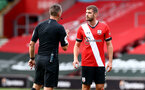SOUTHAMPTON, ENGLAND - SEPTEMBER 20: Jack Stephens of Southampton during the Premier League match between Southampton and Tottenham Hotspur at St Mary's Stadium on September 20, 2020 in Southampton, United Kingdom. (Photo by Matt Watson/Southampton FC via Getty Images)