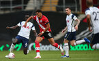SOUTHAMPTON, ENGLAND - SEPTEMBER 20: Che Adams during the Premier League match between Southampton and Tottenham Hotspur at St Mary's Stadium on September 20, 2020 in Southampton, United Kingdom. (Photo by Chris Moorhouse/Southampton FC via Getty Images)