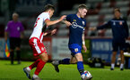STEVENAGE, ENGLAND - SEPTEMBER 22: Callum Slattery (R) of Southampton during the EFL Trophy match between Stevenage FC and Southampton FC B Team  at the Lamex Stadium on September 22, 2020 in Stevenage, England. (Photo by Isabelle Field/Southampton FC via Getty Images)