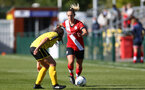 Southampton, ENGLAND - SEPTEMBER 27: Shelly Provan of Southampton during the FAWNL match between Southampton Women and Buckland Athletic at Snows Stadium on September 27, 2020 in Southampton, United Kingdom (Photo by Isabelle Field/Southampton FC via Getty Images)