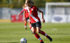 Southampton, ENGLAND - SEPTEMBER 27: Shannon Albuery of Southampton during the FAWNL match between Southampton Women and Buckland Athletic at Snows Stadium on September 27, 2020 in Southampton, United Kingdom (Photo by Isabelle Field/Southampton FC via Getty Images)