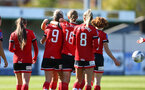 Southampton, ENGLAND - SEPTEMBER 27: southampton players celebrate Ella Pusey second goal during the FAWNL match between Southampton Women and Buckland Athletic at Snows Stadium on September 27, 2020 in Southampton, United Kingdom (Photo by Isabelle Field/Southampton FC via Getty Images)