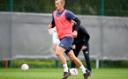 SOUTHAMPTON, ENGLAND - SEPTEMBER 30: James Ward-Prowse during a Southampton FC training session at the Staplewood Campus on September 30, 2020 in Southampton, England. (Photo by Matt Watson/Southampton FC via Getty Images)