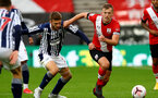 SOUTHAMPTON, ENGLAND - OCTOBER 04: Sam Field (L) of West Bromwich Albion and James Ward-Prowse (R) of Southampton during the Premier League match between Southampton and West Bromwich Albion at St Mary's Stadium on October 4, 2020 in Southampton, United Kingdom. Sporting stadiums around the UK remain under strict restrictions due to the Coronavirus Pandemic as Government social distancing laws prohibit fans inside venues resulting in games being played behind closed doors. (Photo by Matt Watson/Southampton FC via Getty Images)
