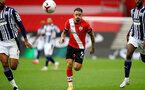 SOUTHAMPTON, ENGLAND - OCTOBER 04: Danny Ings (center) of Southampton during the Premier League match between Southampton and West Bromwich Albion at St Mary's Stadium on October 4, 2020 in Southampton, United Kingdom. Sporting stadiums around the UK remain under strict restrictions due to the Coronavirus Pandemic as Government social distancing laws prohibit fans inside venues resulting in games being played behind closed doors. (Photo by Matt Watson/Southampton FC via Getty Images)