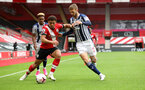SOUTHAMPTON, ENGLAND - OCTOBER 04: Che Adams during the Premier League match between Southampton and West Bromwich Albion at St Mary's Stadium on October 4, 2020 in Southampton, United Kingdom. Sporting stadiums around the UK remain under strict restrictions due to the Coronavirus Pandemic as Government social distancing laws prohibit fans inside venues resulting in games being played behind closed doors. (Photo by Chris Moorhouse/Southampton FC via Getty Images)