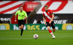 SOUTHAMPTON, ENGLAND - OCTOBER 04: Stuart Armstrong of Southampton during the Premier League match between Southampton and West Bromwich Albion at St Mary's Stadium on October 04, 2020 in Southampton, United Kingdom. Sporting stadiums around the UK remain under strict restrictions due to the Coronavirus Pandemic as Government social distancing laws prohibit fans inside venues resulting in games being played behind closed doors. (Photo by Matt Watson/Southampton FC via Getty Images)